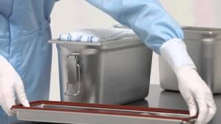 Тележка для уборки чистых помещений из нержавеющей стали Clino CR4 EM-GMP(, 2016-01-01T00:01:17.000Z)