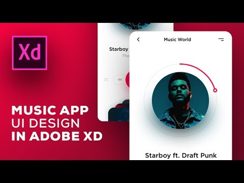 Design Mobile App UI Adobe Xd - Speed Art Tutorial