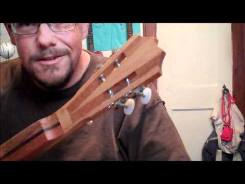Homemade Steel String Cigar Box Lap Steel Ukulele Construction Details