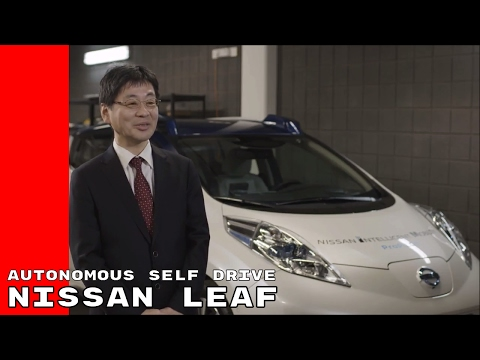 Nissan Leaf Autonomous Self Drive Demonstration