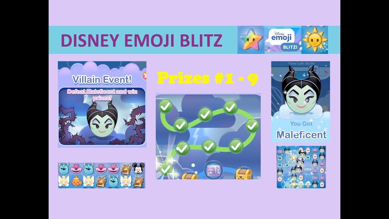 Disney Emoji Blitz Villain Event Maleficent Intro Prizes 1 9 Maleficent Power 1 Gameplay