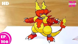 How to Draw Magmar From Pokemon | Step by Step