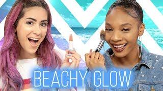 BEACH MAKEUP CHALLENGE?! Wing It w/ Cassie Diamond & Kellie Sweet