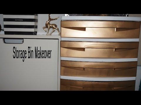DIY: Storage Bin Drawers Makeover!