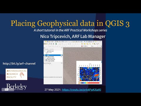 How to georeference and clip geophysical data in QGIS 3.x