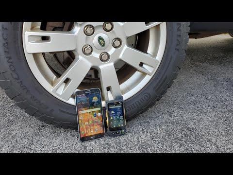 Sonim XP7 and Samsung W7 vs truck (biggest upset ever!)