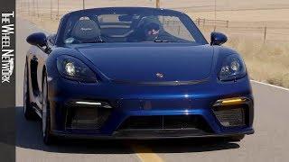 2020 Porsche 718 Spyder | Gentian Blue Metallic | Driving, Interior, Exterior