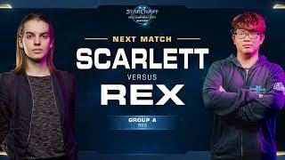 Scarlett vs Rex ZvZ - Ro16 Group A - WCS Winter Americas