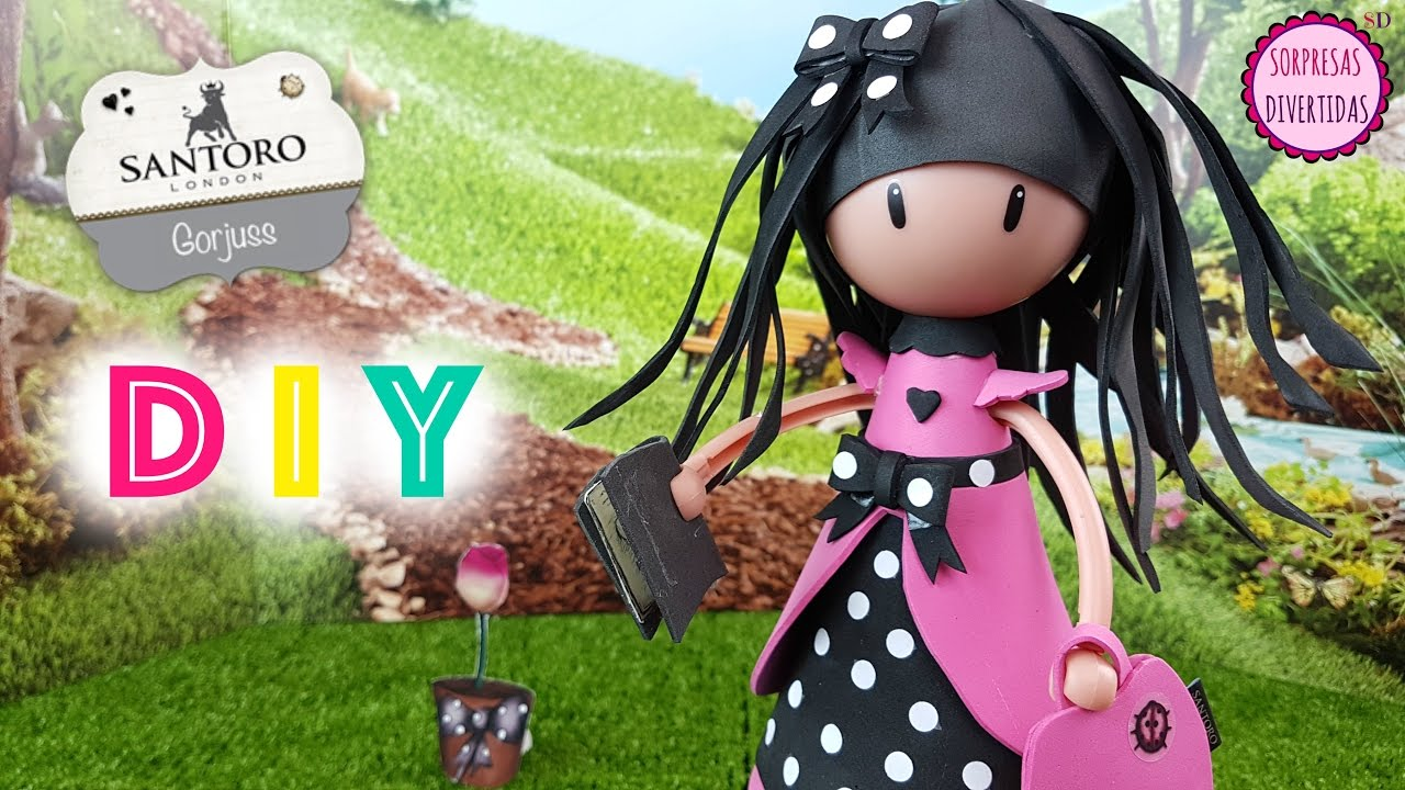 0233227f0a4 Cómo hacer Ladybird Gorjuss de Santoro en Fofucha MUY FÁCIL DIY  manualidades de muñecas