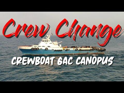 Offshore Crew Change | Crew Boat GAC Canopus | Offshore Life | SeamanVlog