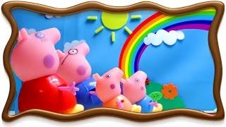 Свинка Пеппа 2015 мультики для детей. Свинка Пеппа радуга после дождя.