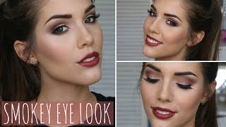 brown smokey eye fall autumn makeup tutorial   ft too faced chocolate bar palette