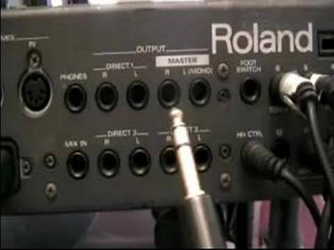 How to Play Electronic Drums : Output...