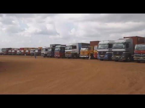 Cargo truck drivers stuck between Uganda and South Sudan border