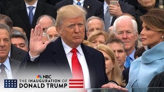 the 58th presidential inauguration of donald j trump full video   nbc news