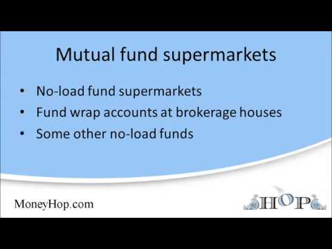 Mutual fund supermarkets