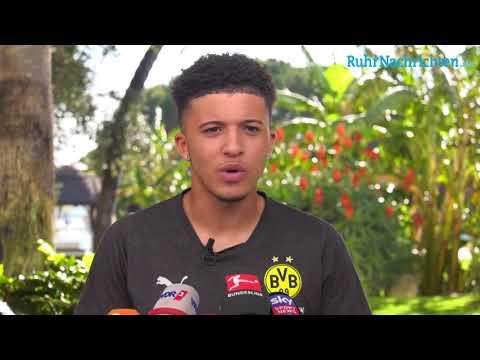 Jadon Sancho über die Hinrunde, sein Saison-Highlight und die Ziele mit dem BVB