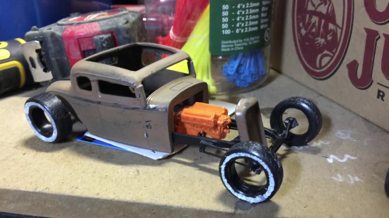 1932 5 window rat rod Model Kit - YouTube