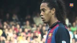 Ronaldinho remembers with affection the first assist to Messi