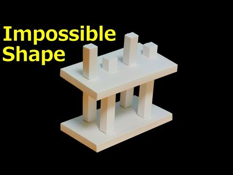 DIY Optical Illusion Kit - 4 Pillars of Impossible Way of Forming Line