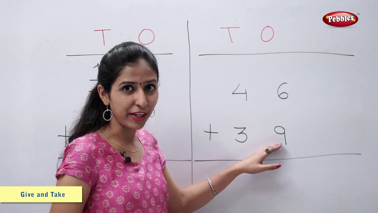 Addition Of Numbers With Carrying Maths For Class 2 Maths Basics For Cbse Children Youtube