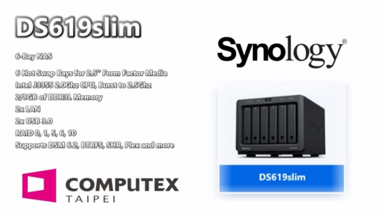 Specifications Update on the Synology DS619Slim - VERY Surprising