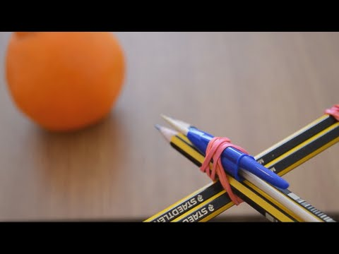how to make a crossbow with 4 pencils youtube. Black Bedroom Furniture Sets. Home Design Ideas