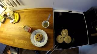 Glutenfri Blåbær Pandekager/ Glutenfree Blueberry Pancakes