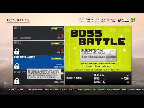 Madden 18 Ultimate Team Week 6 Boss Battle Information And Rewards