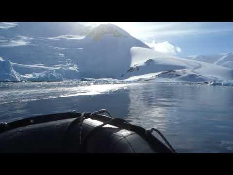Zodiac ride to Neko Harbor landing site Antarctica Peninsula