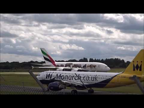 Planes at Birmingham Airport - 1st July 2016 with ATC