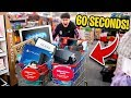 Little Brother Gets 60 Seconds to Buy EVERYTHING For FREE - Challenge