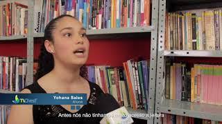 Baixar Angelim recebe biblioteca e sala de informática