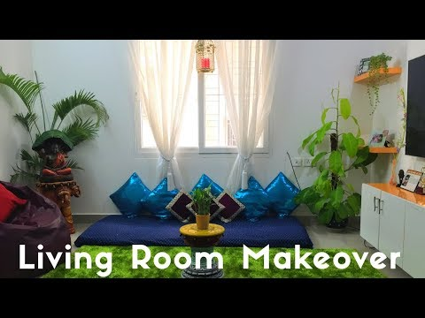Small Indian Living Room Makeover||Living Room Decoration||Home Decor Ideas||Backyard Gardening