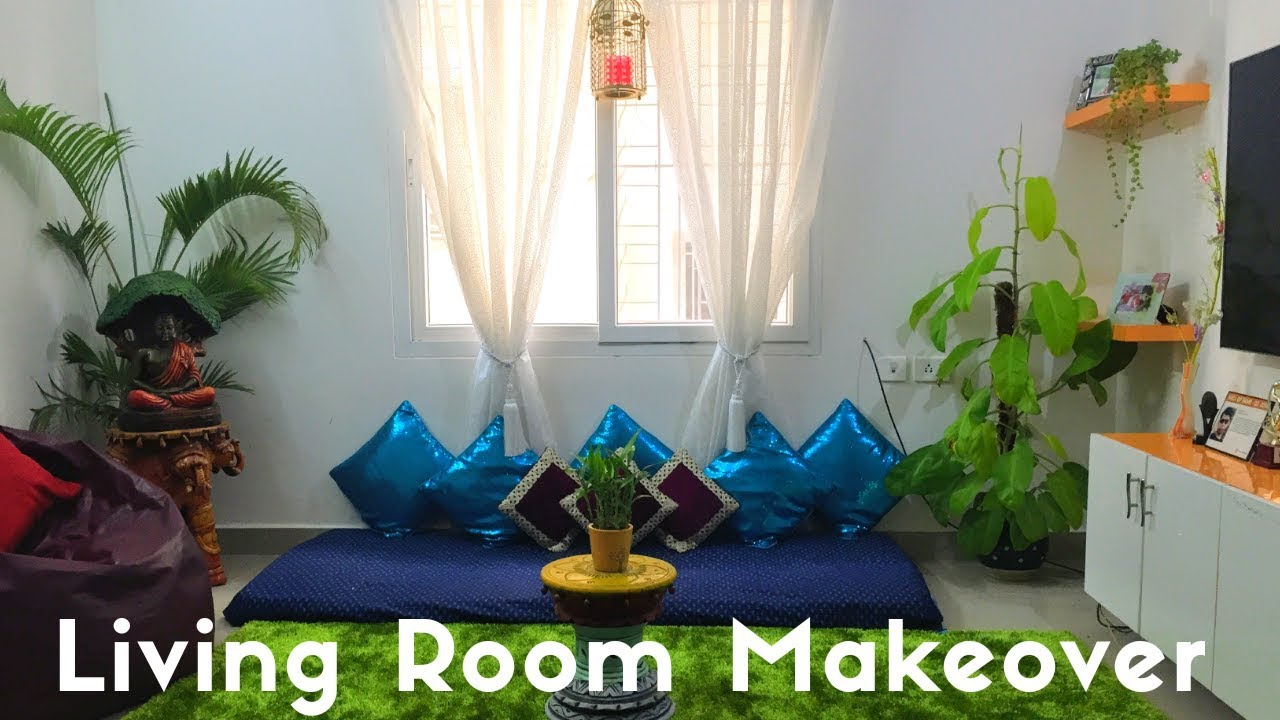 Small Indian Living Room Makeover||Living Room Decoration ...