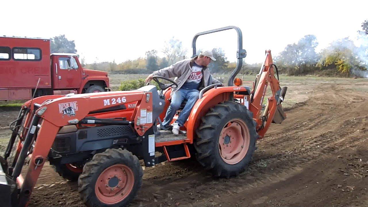 Kubota L3430 Tractor With Bush Hog M246 Loader Youtube