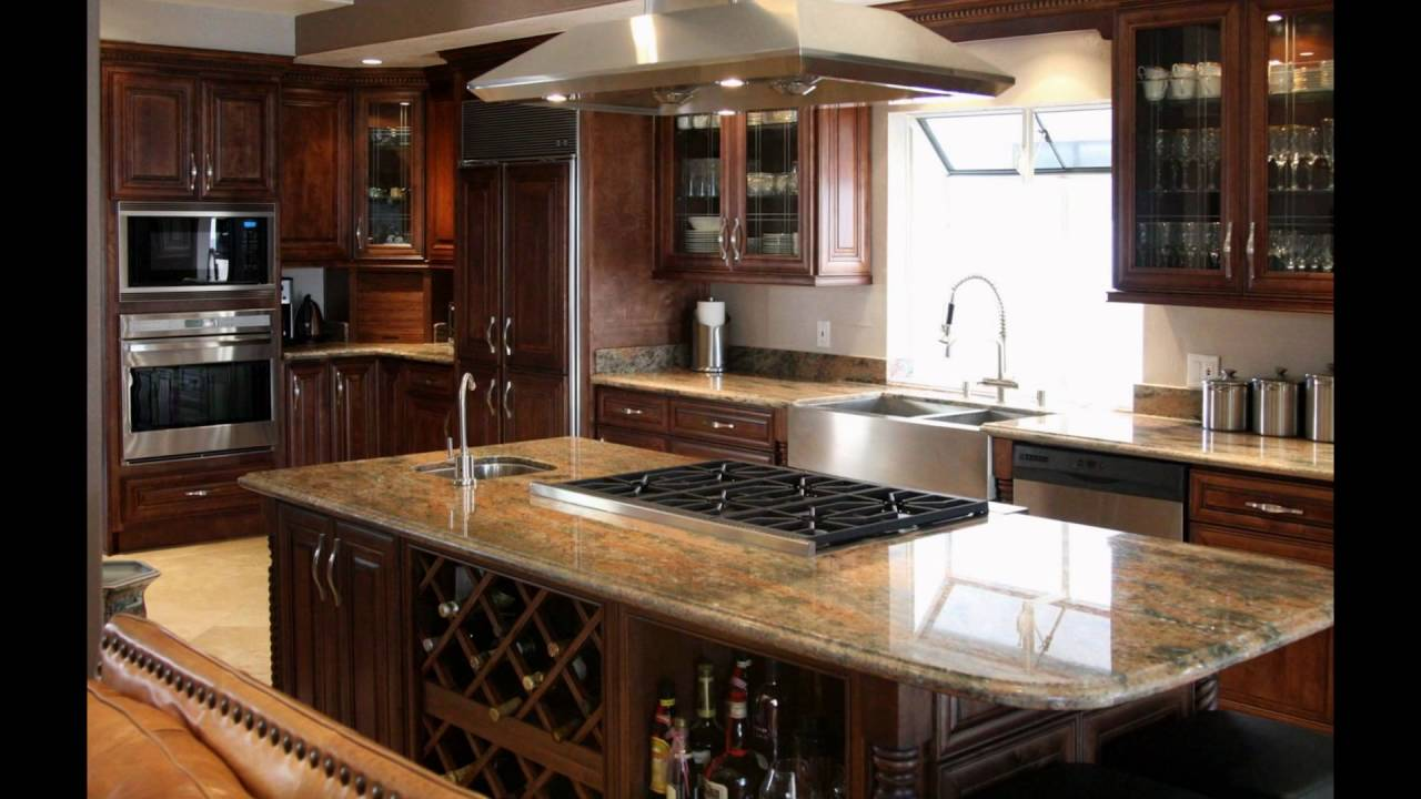 Kitchen Islands With Granite Countertops Youtube