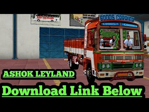 Ashok Leyland Truck Mod For Bus Simulator Indonesia Truck Game Truck Simulator Truck Mod Bussid Youtube