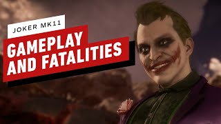 Mortal Kombat 11 - Joker Gameplay and Fatalities