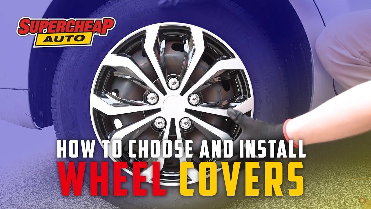 "14/"" Lightning Matt Black /& Red Universal Car Wheel Trim Covers"