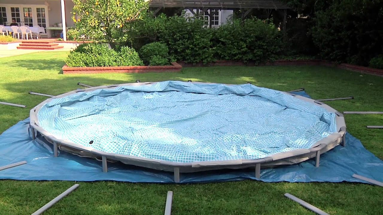 intex ultra frame swimming pool set up from youtube. Black Bedroom Furniture Sets. Home Design Ideas