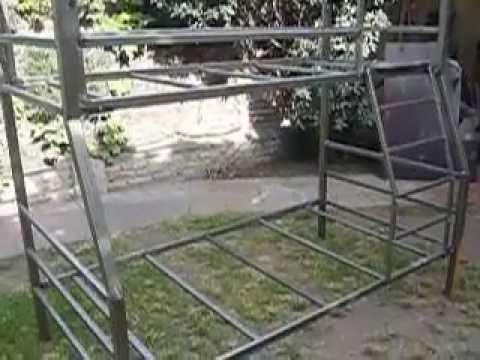 Litera plus cama de 90x190cm negro metalizado con somie doovi - Muebles shena literas ...