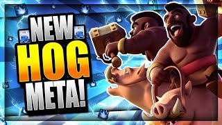 THIS NEW META HOG DECK DESTROYS LADDER!! Clash Royale Hog Rider Deck Arena 10 - 12