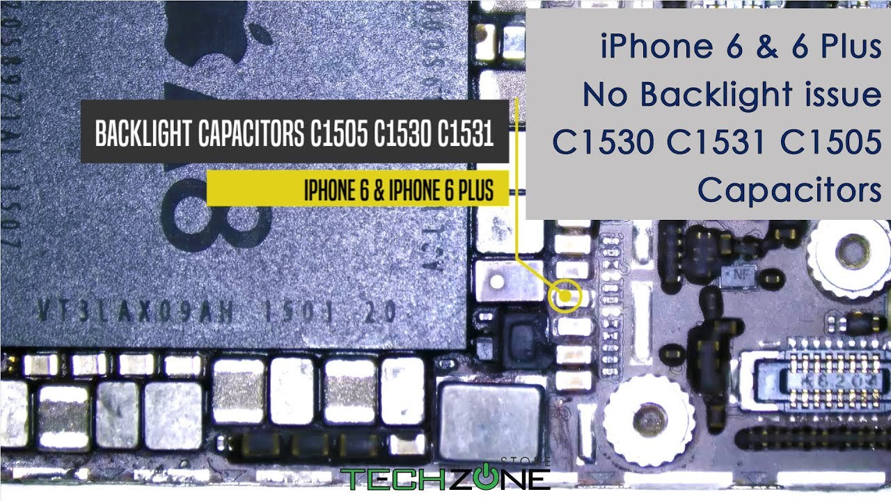 official photos 7119f a9b88 iPhone 6 No Backlight issue fix C1530 C1531 C1505 Capacitors replace