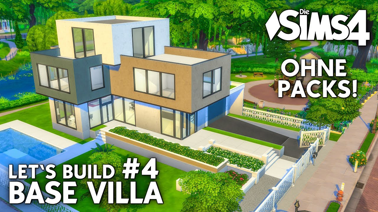 Die Sims 4 Haus Bauen Ohne Packs Base Villa 4 Wohnzimmer