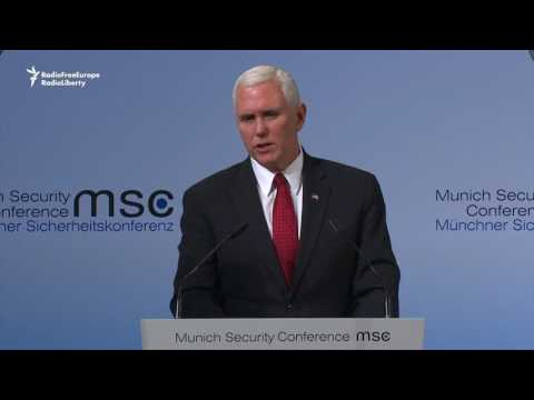 Pence: U.S. Will Hold Russia Accountable For Interference In Ukraine