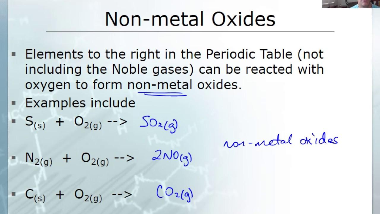 Ae6 non metal oxides youtube ae6 non metal oxides gamestrikefo Images