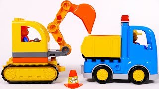 Building Lego Dump Truck and Excavator Toys for Children