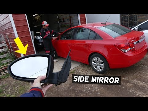 CHEVROLET CRUZE SIDE MIRROR REMOVAL REPLACEMENT. SIDE VIEW MIRROR CHEVY CRUZE