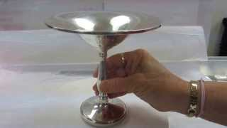 Sterling Silver Nut Dish - Pedestal Compote Dish